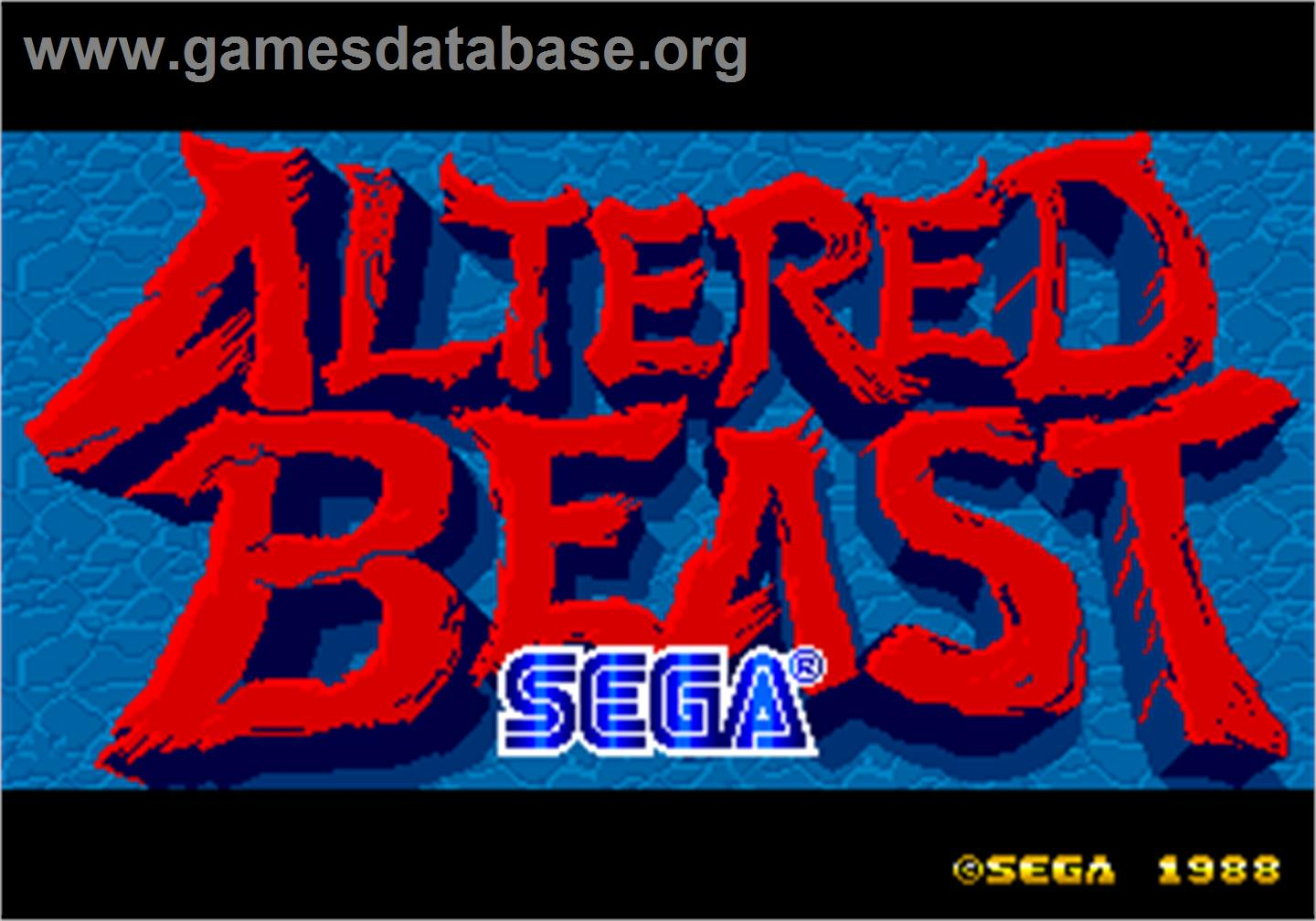Altered beast arcade games database for Altered beast