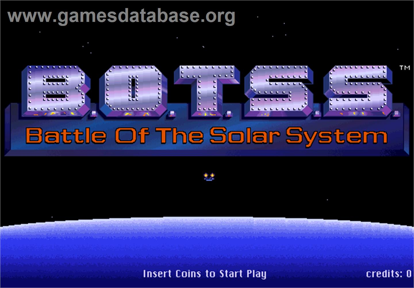 Battle of the Solar System - Arcade - Artwork - Title Screen