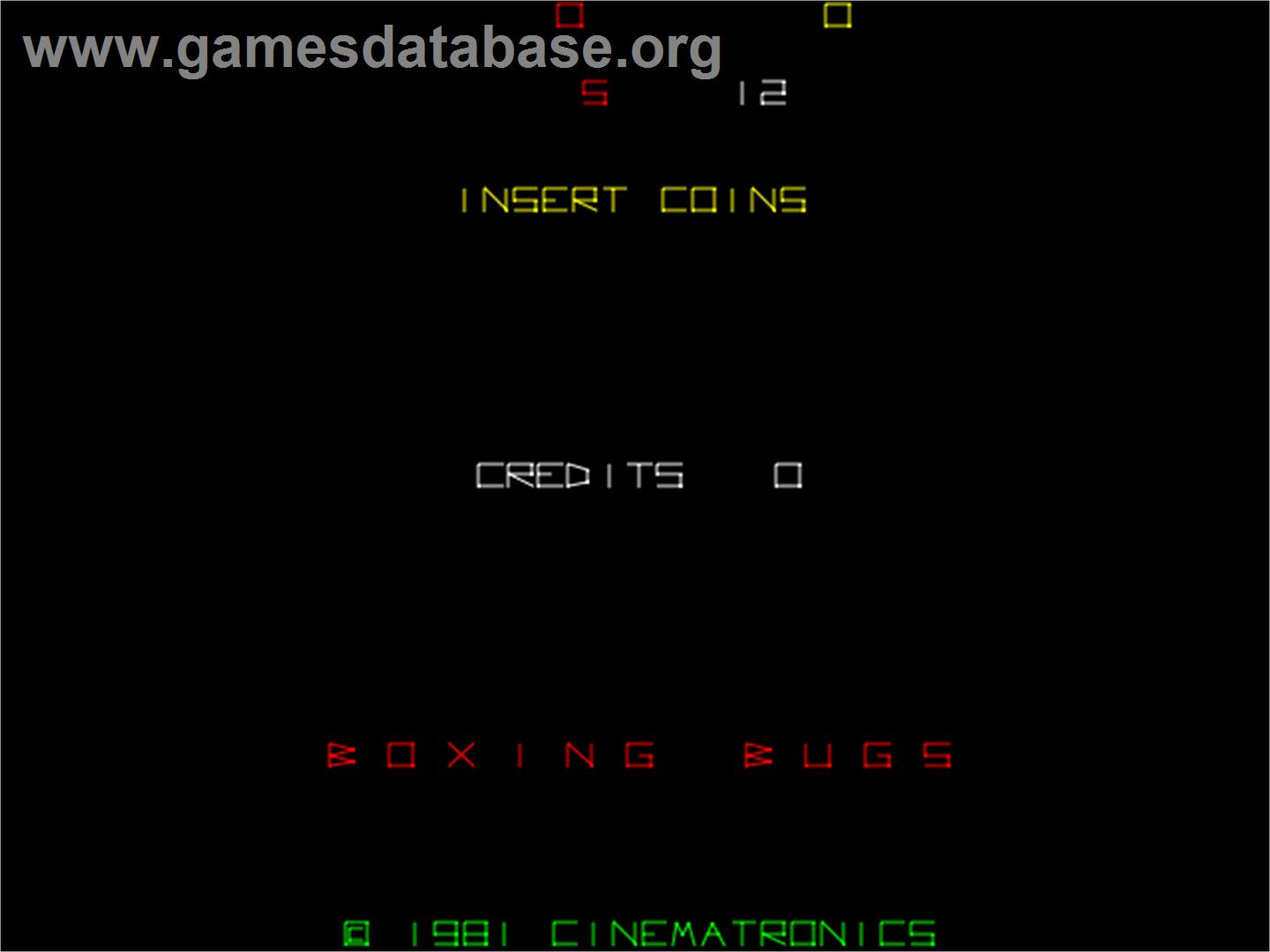 Boxing Bugs - Arcade - Artwork - Title Screen