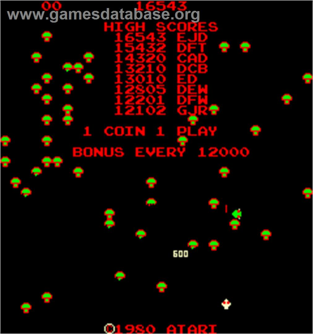 Centipede Arcade Artwork Title Screen