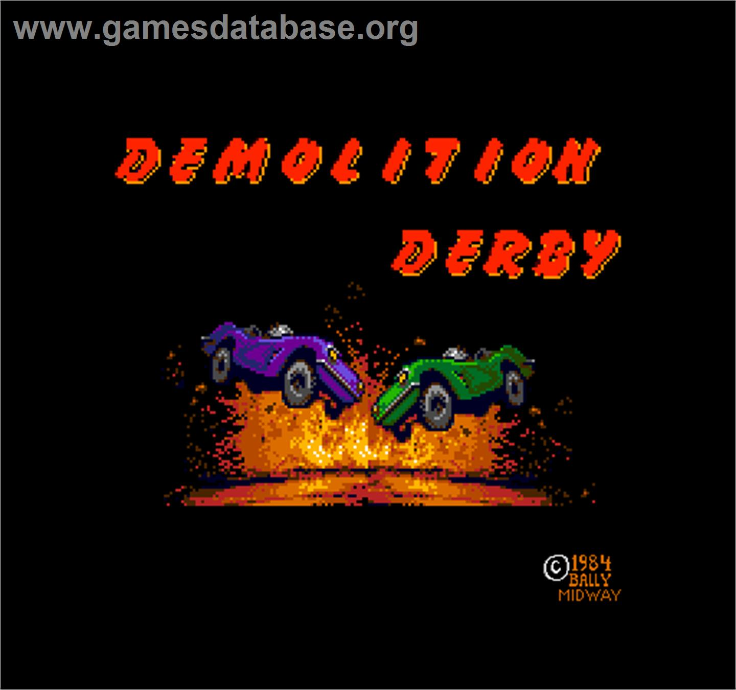 Demolition Derby - Arcade - Artwork - Title Screen