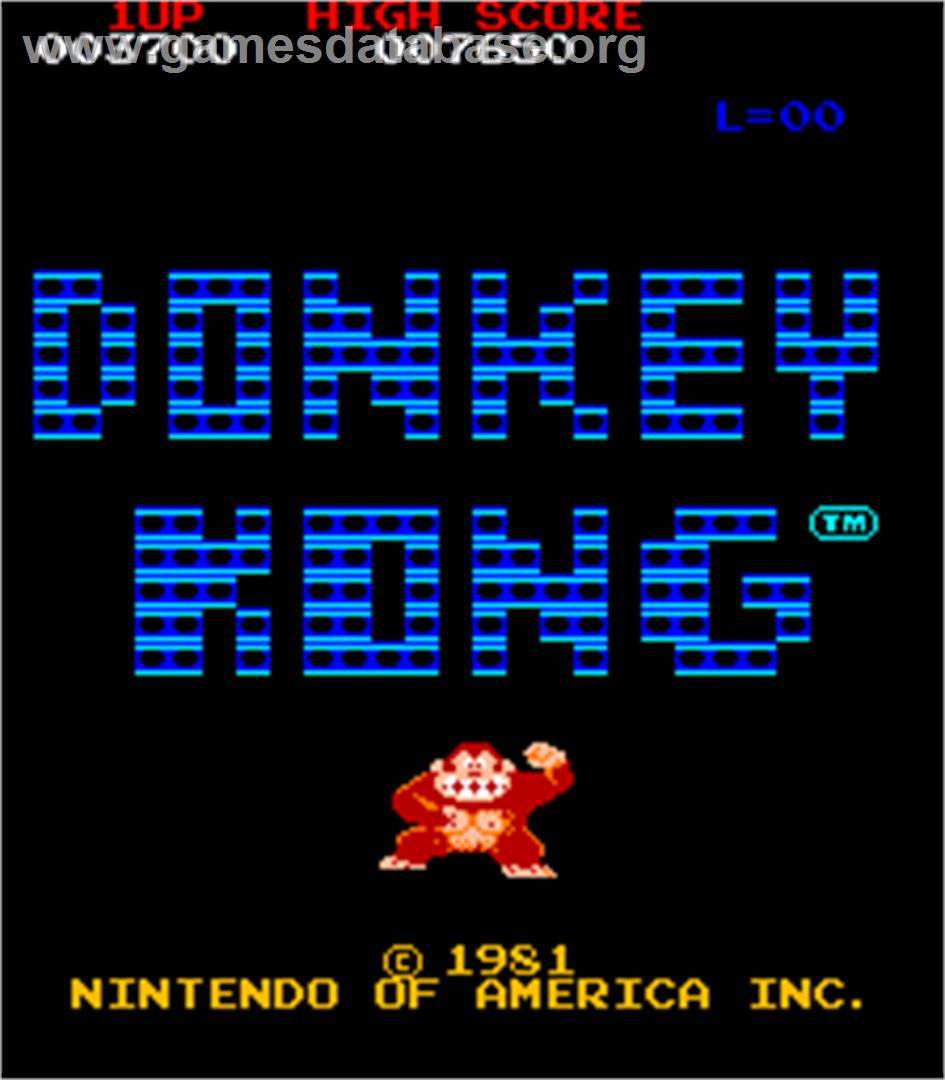 Donkey Kong Foundry - Arcade - Artwork - Title Screen
