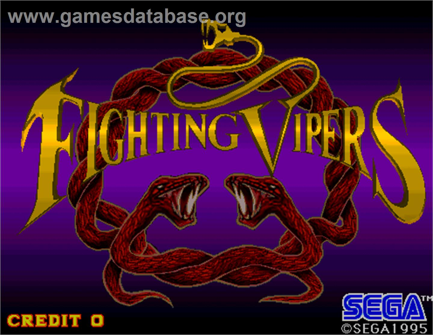 Fighting Vipers - Arcade - Artwork - Title Screen