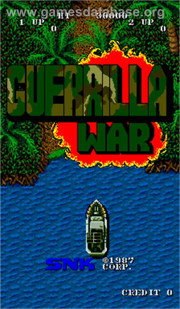 Guerrilla War - Arcade - Artwork - Title Screen