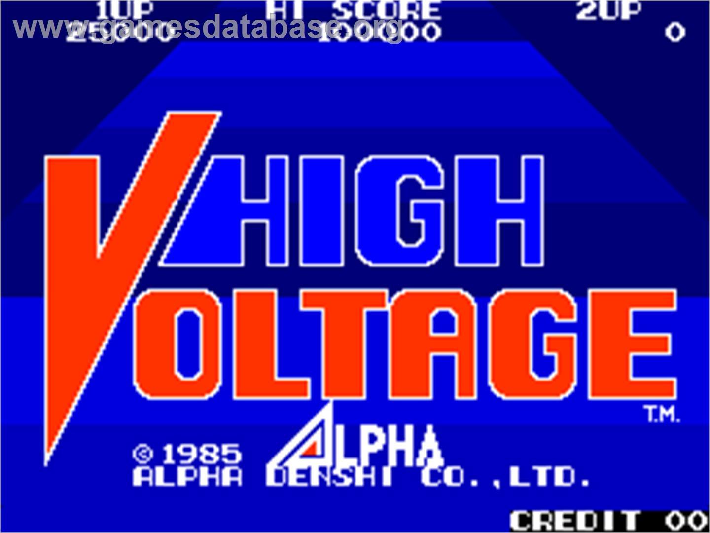 High Voltage Arcade : High voltage arcade games database