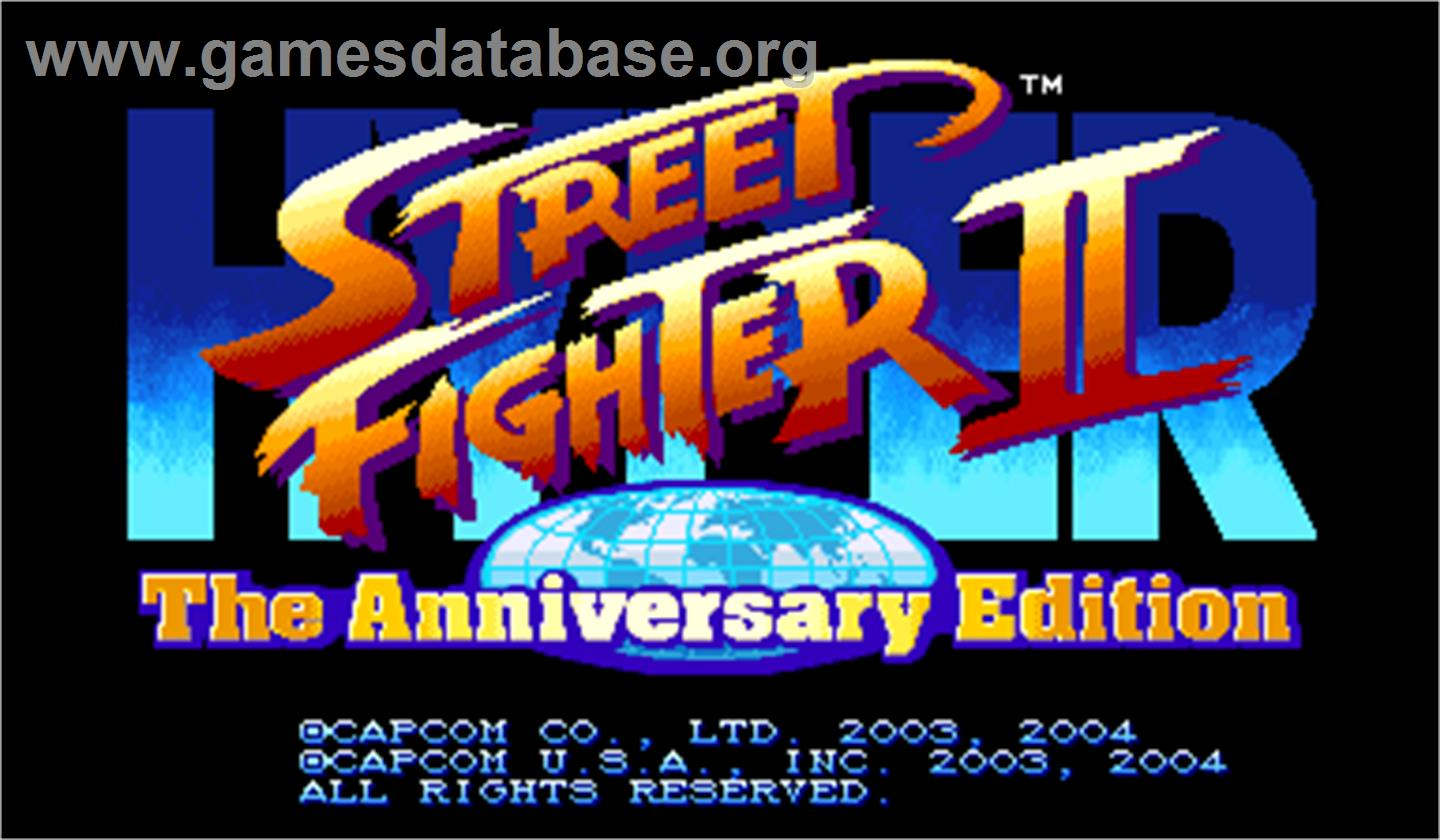 Hyper Street Fighter 2: The Anniversary Edition - Arcade - Artwork - Title Screen