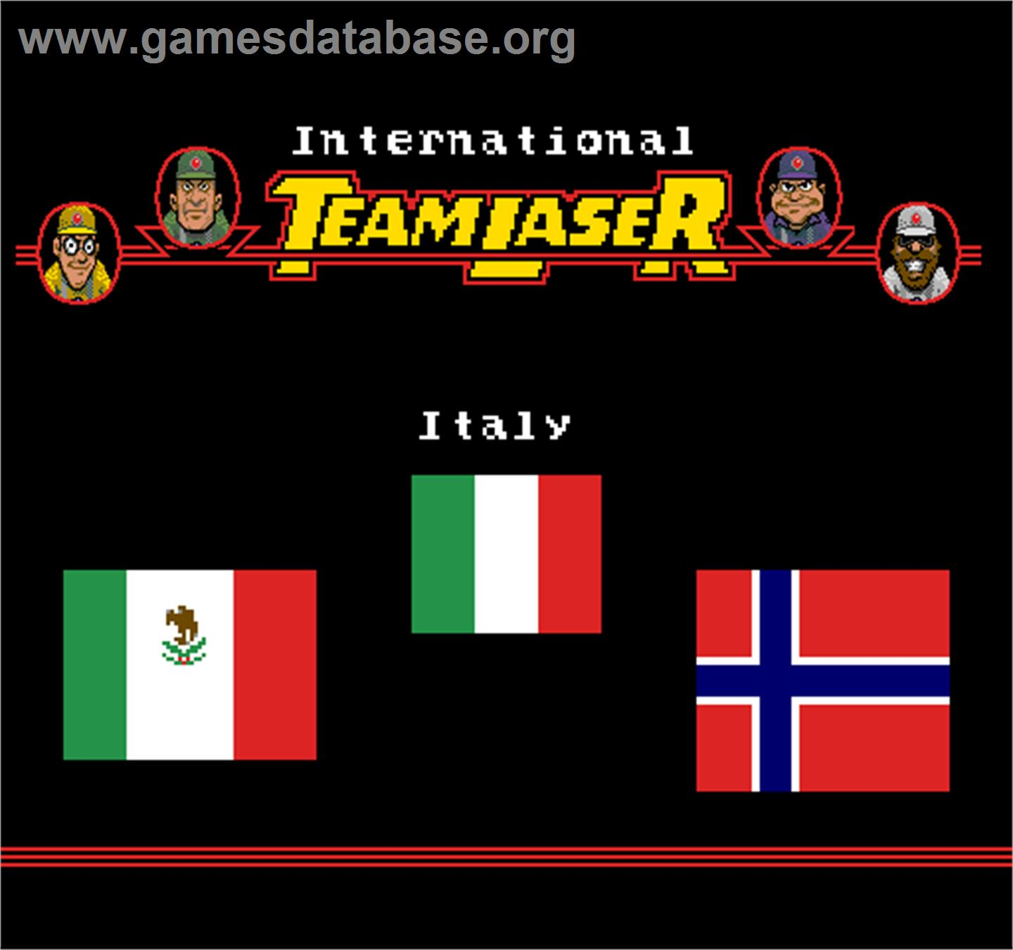International Team Laser - Arcade - Artwork - Title Screen