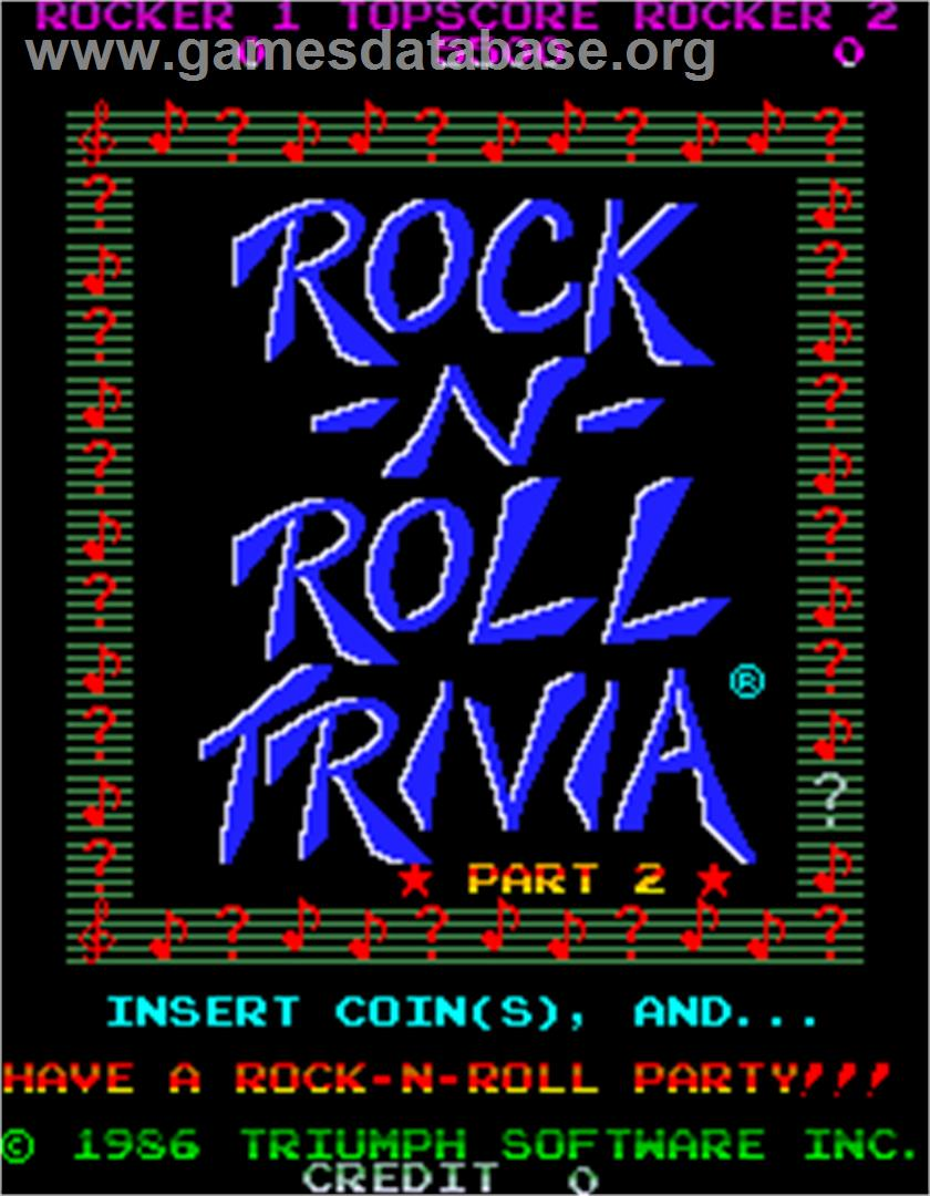 MTV Rock-N-Roll Trivia - Arcade - Artwork - Title Screen