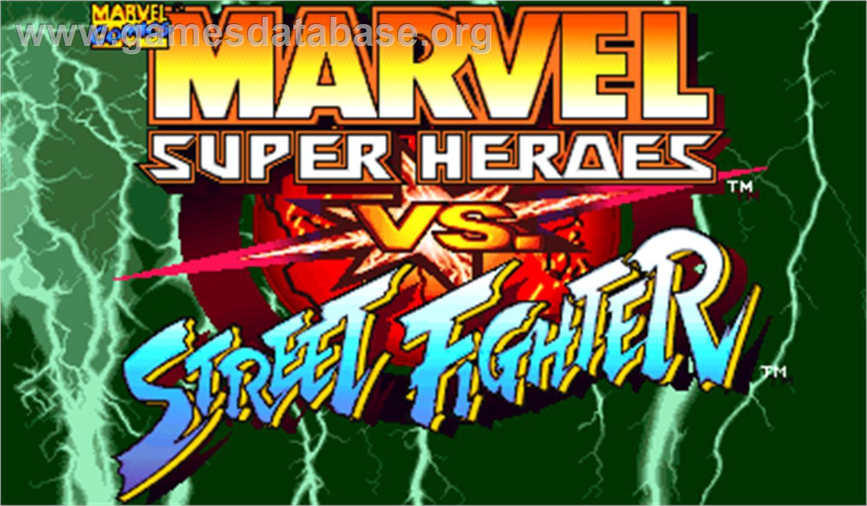 Marvel Super Heroes Vs Street Fighter Arcade Artwork Title