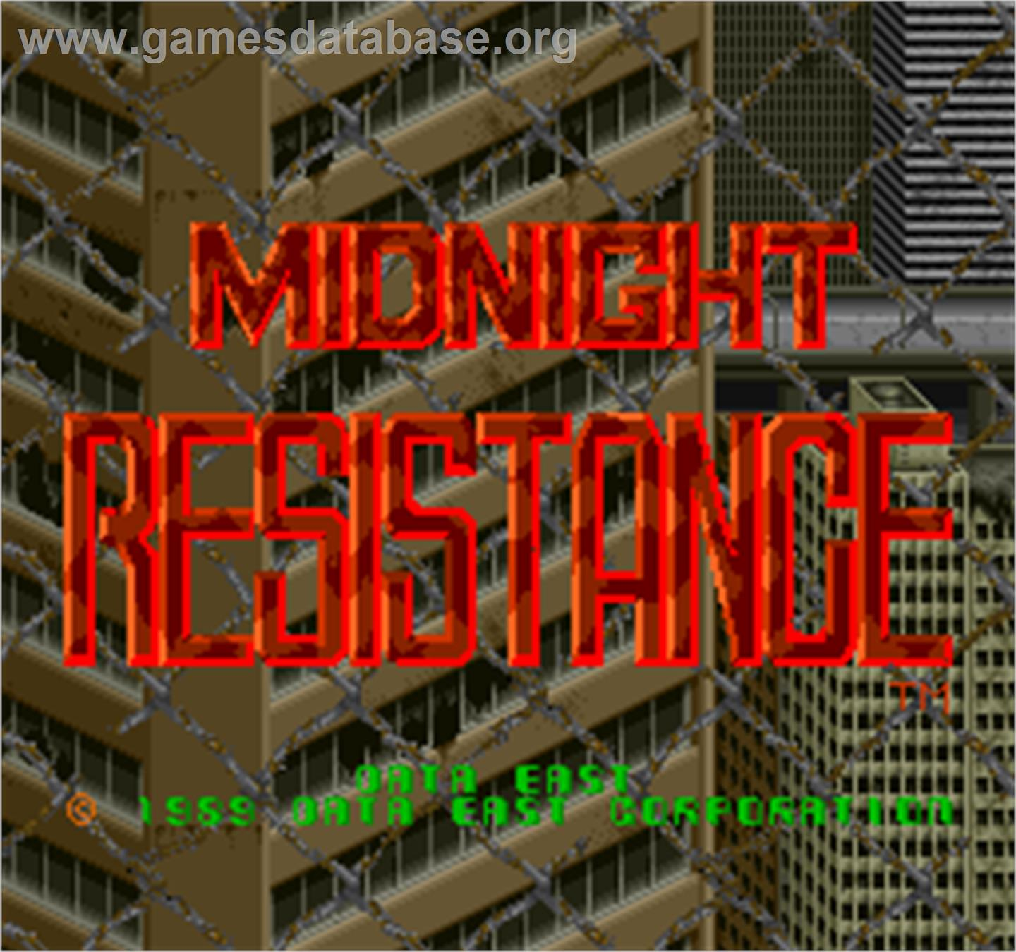 Midnight Resistance - Arcade - Artwork - Title Screen