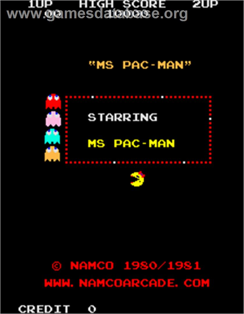 Ms. Pac-Man/Galaga - 20th Anniversary Class of 1981 Reunion - Arcade - Artwork - Title Screen