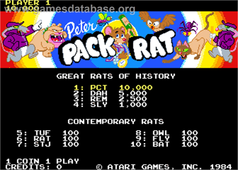 pack rat game