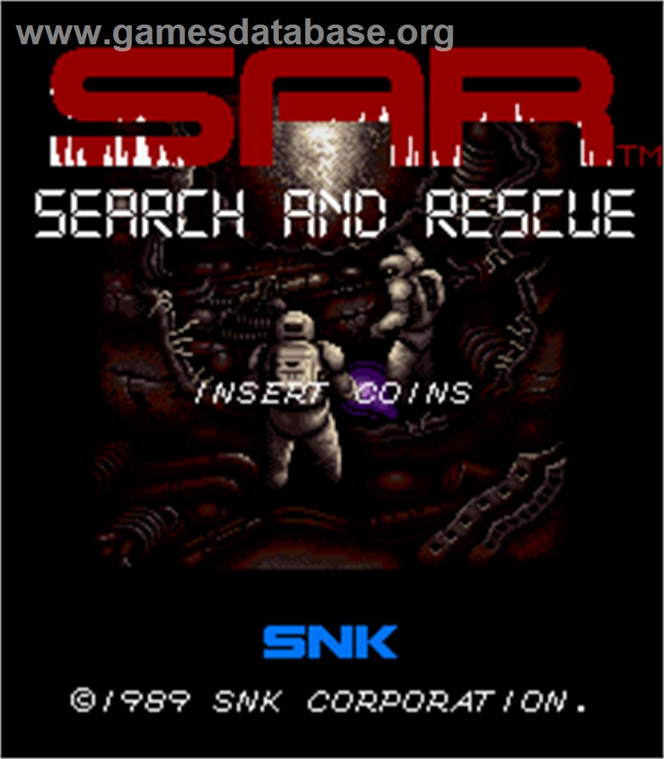 SAR - Search And Rescue - Arcade - Artwork - Title Screen