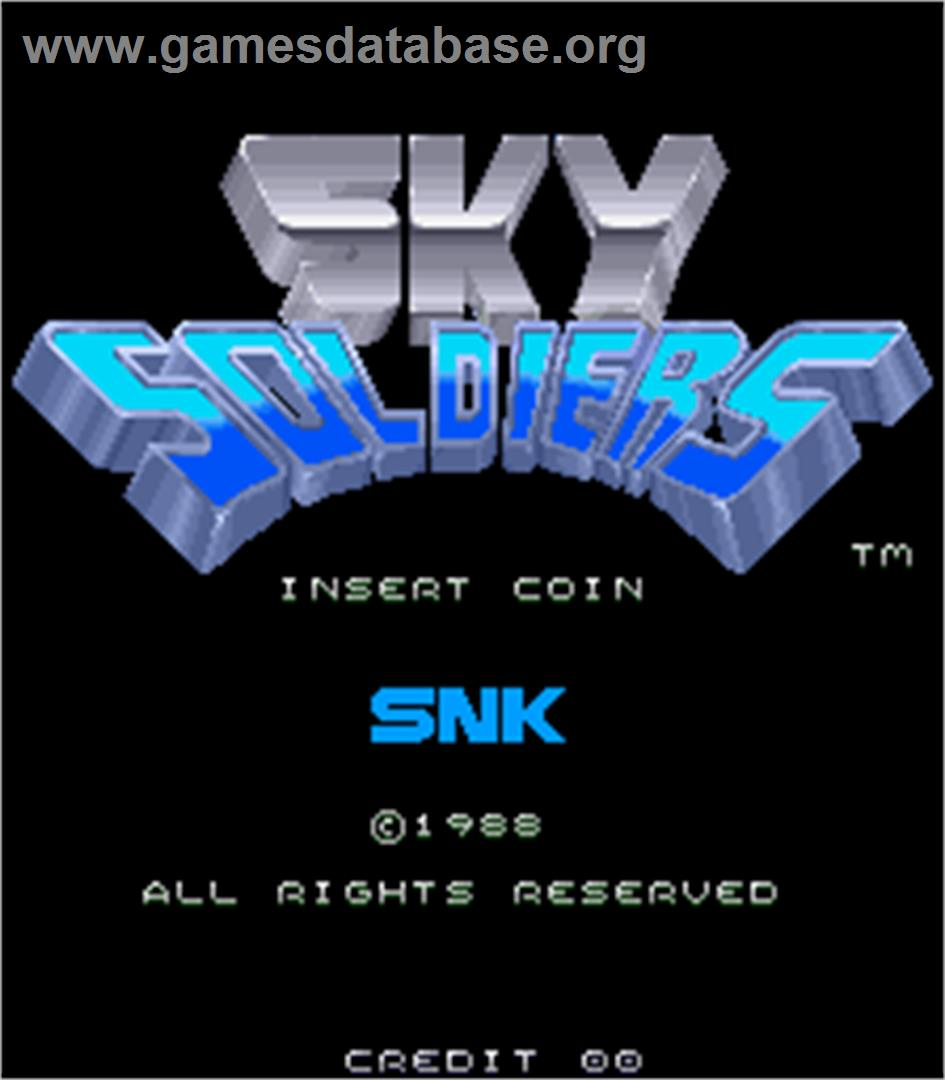 Sky Soldiers - Arcade - Artwork - Title Screen