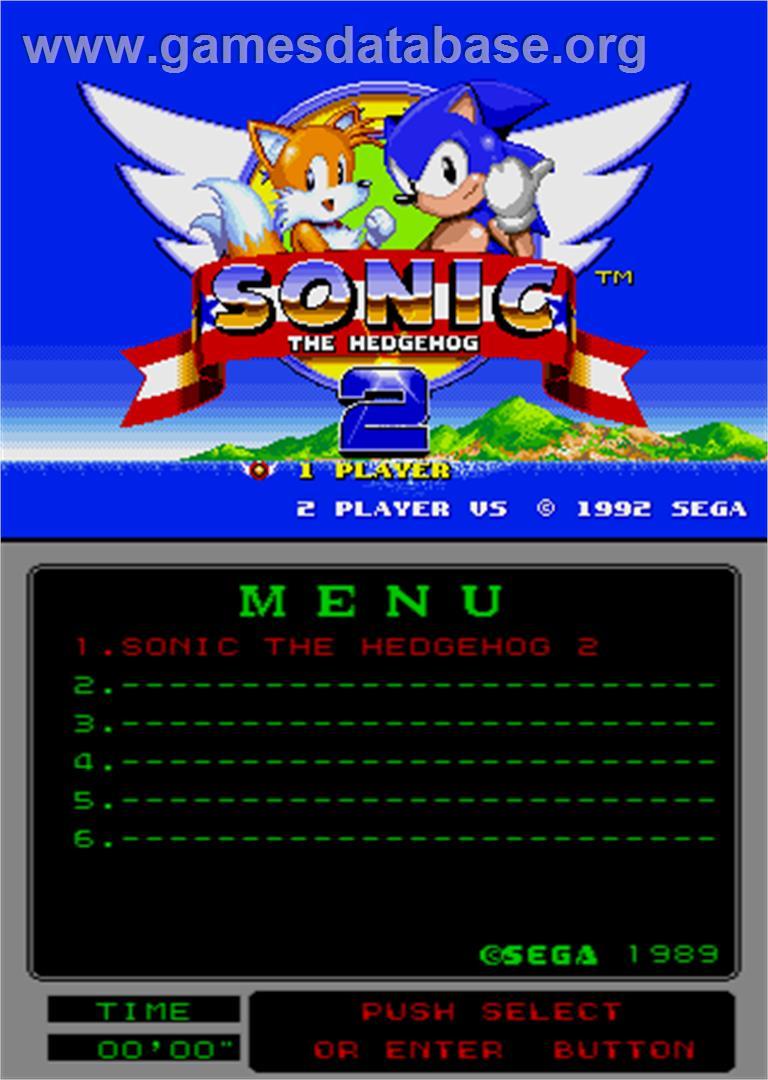 Sonic The Hedgehog 2 Arcade Artwork Title Screen