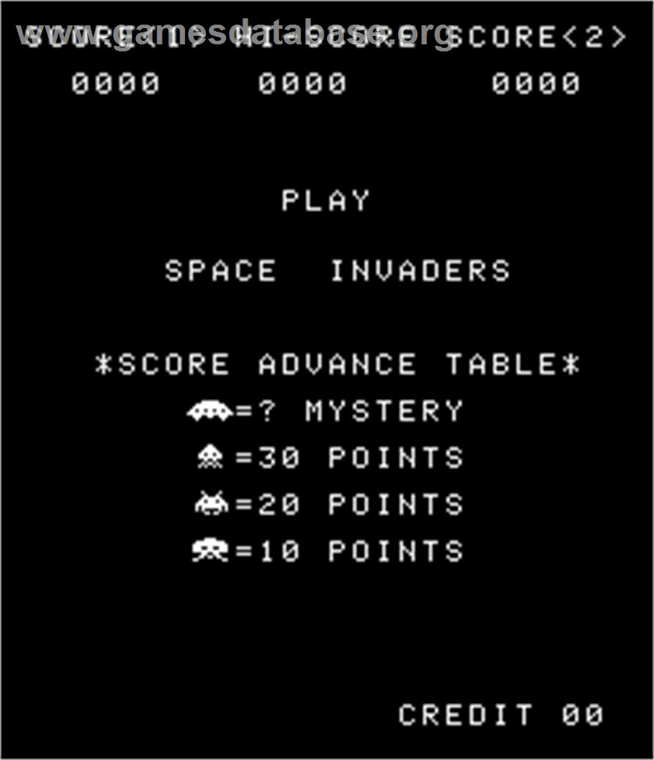 Space Invaders / Space Invaders M - Arcade - Artwork - Title Screen