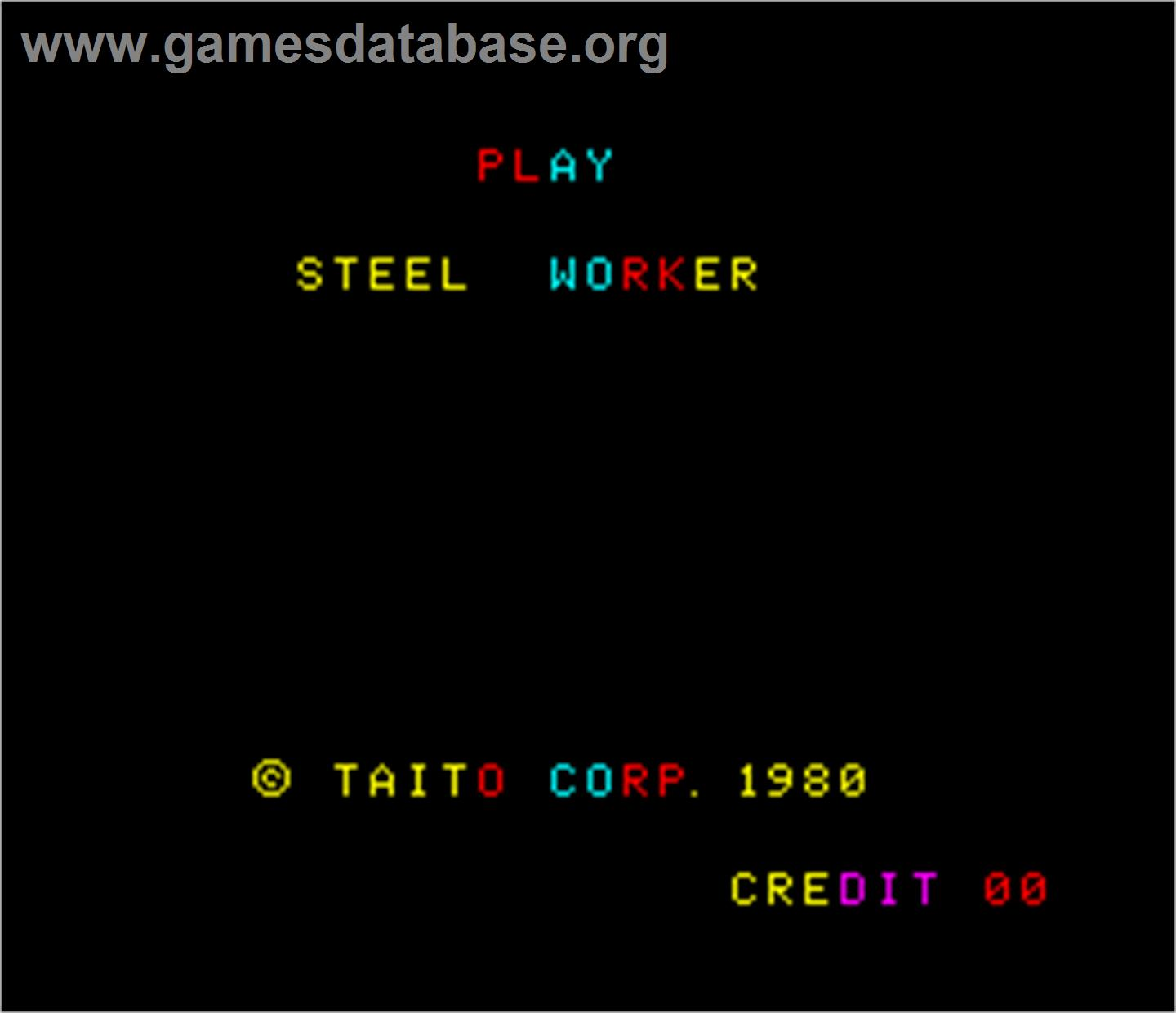 Steel Worker - Arcade - Artwork - Title Screen
