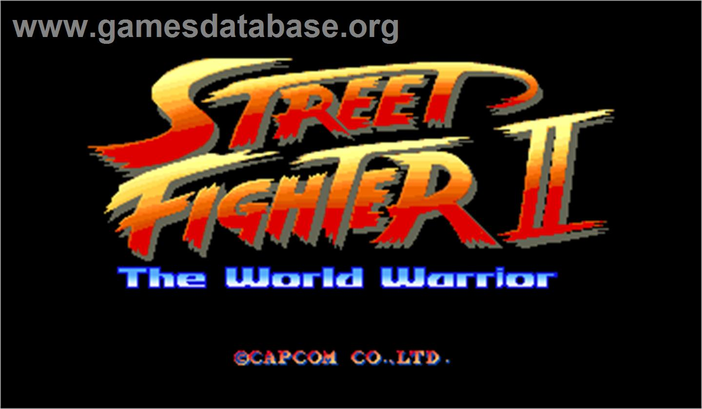 Street Fighter II: The World Warrior - Arcade - Artwork - Title Screen