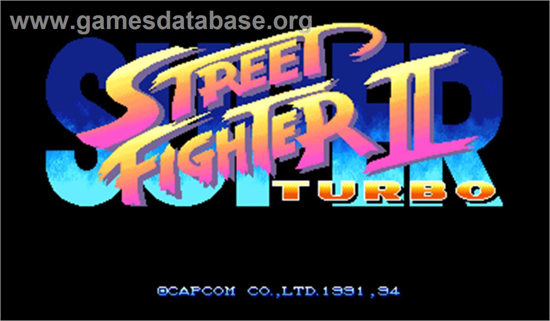 Super Street Fighter Ii Turbo Arcade Artwork Title Screen