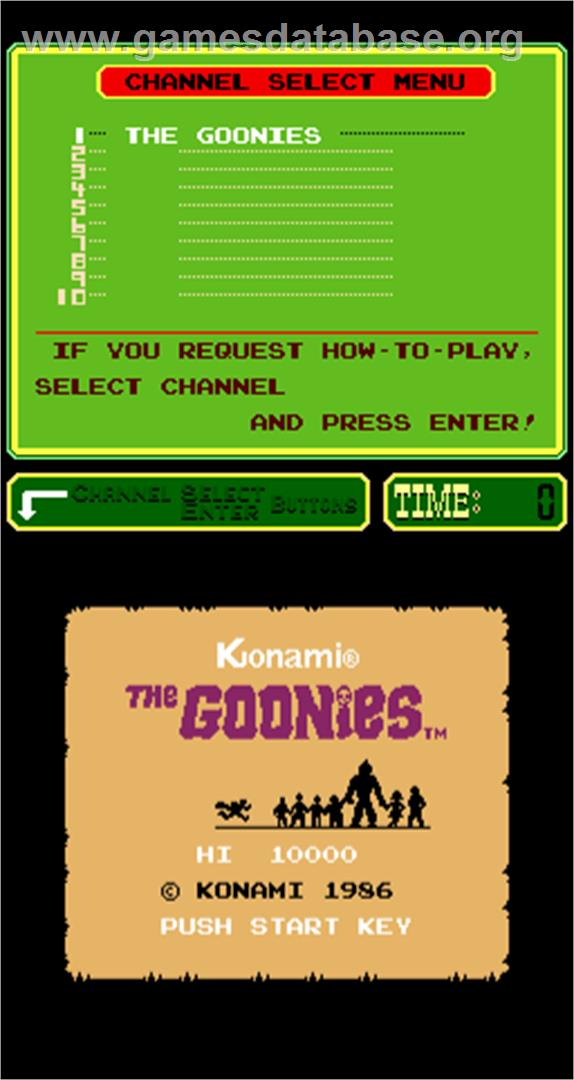 The Goonies - Arcade - Artwork - Title Screen
