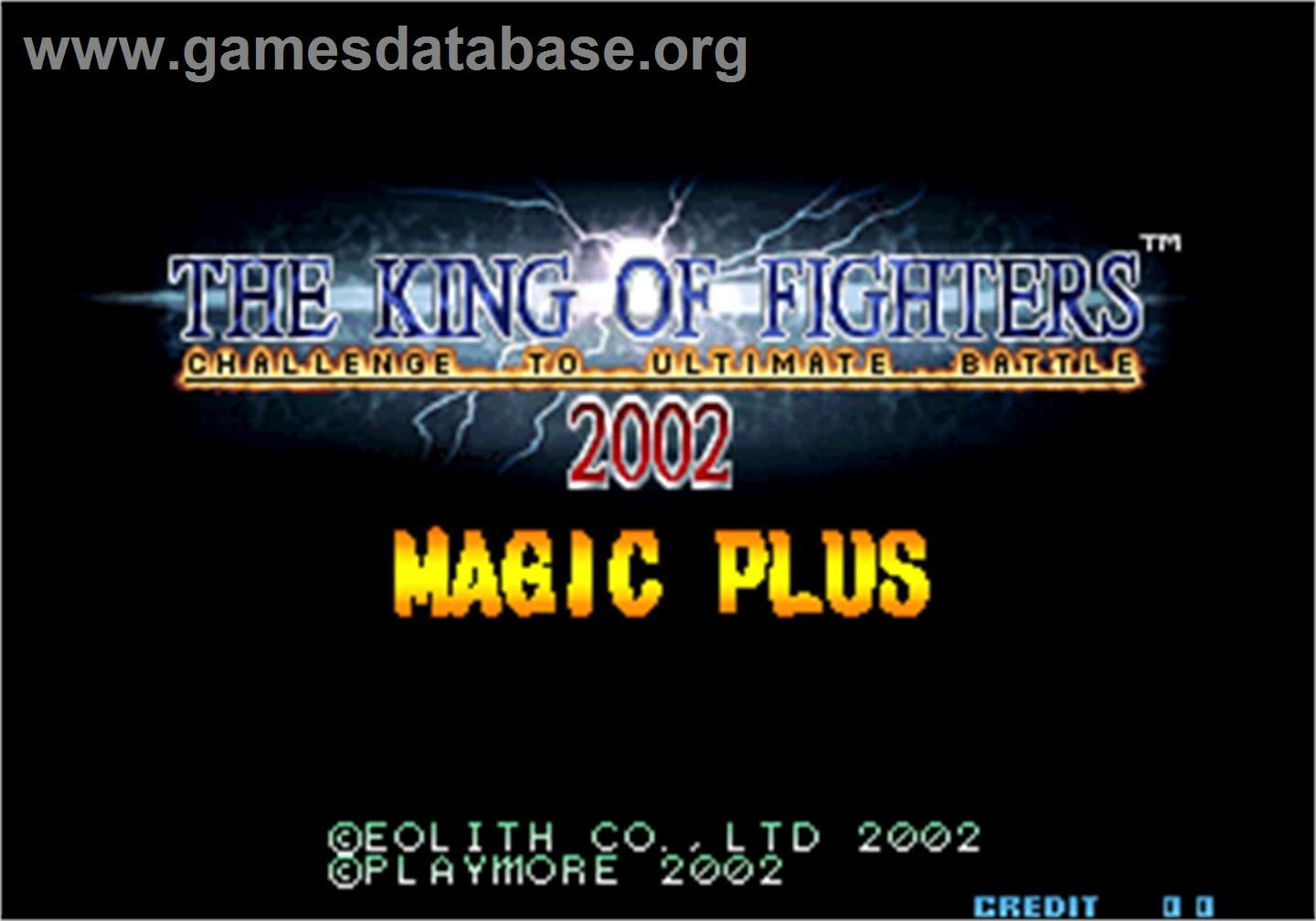 The King of Fighters 2002 Magic Plus - Arcade - Artwork - Title Screen