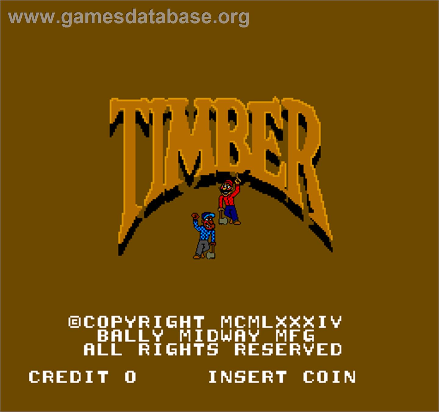 Timber - Arcade - Artwork - Title Screen