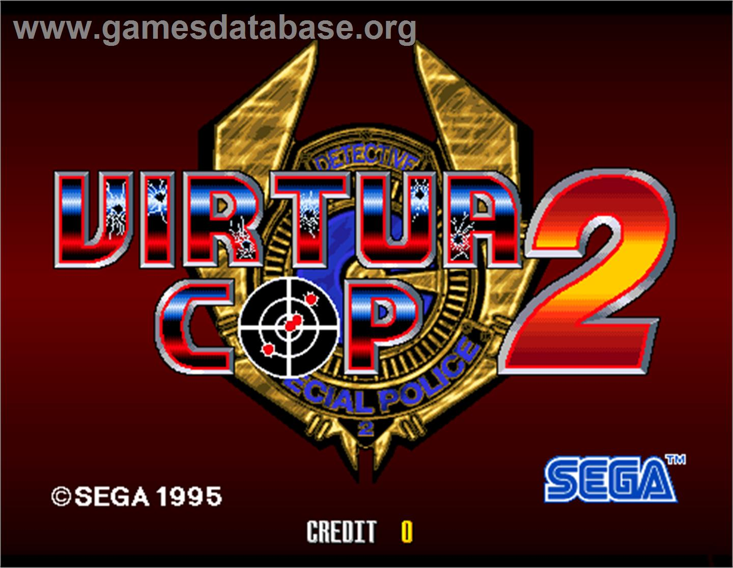 Virtua Cop 2 - Arcade - Artwork - Title Screen