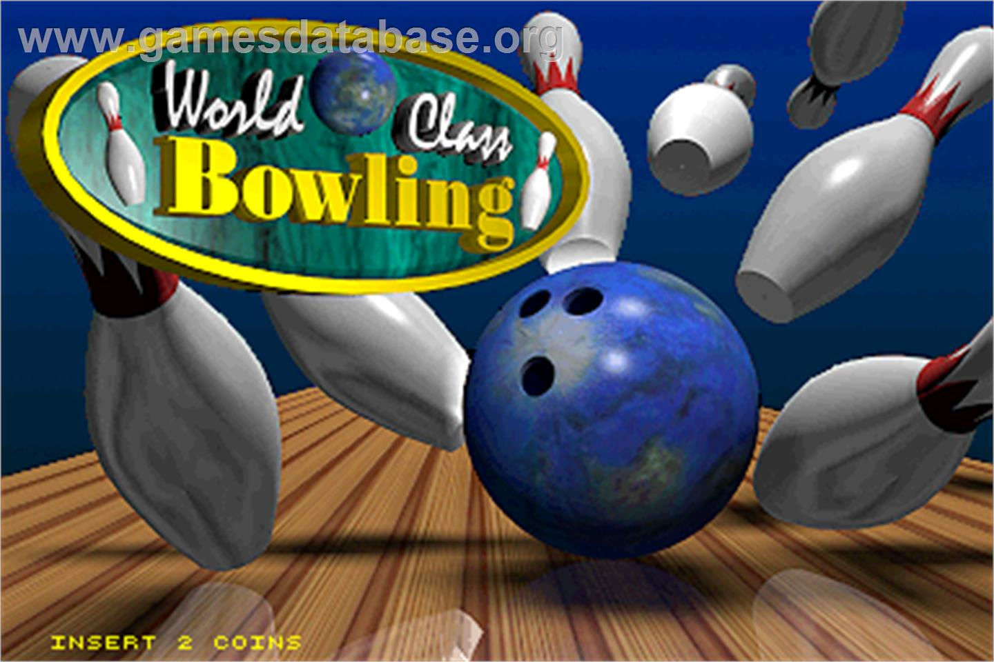 World Class Bowling Deluxe - Arcade - Artwork - Title Screen