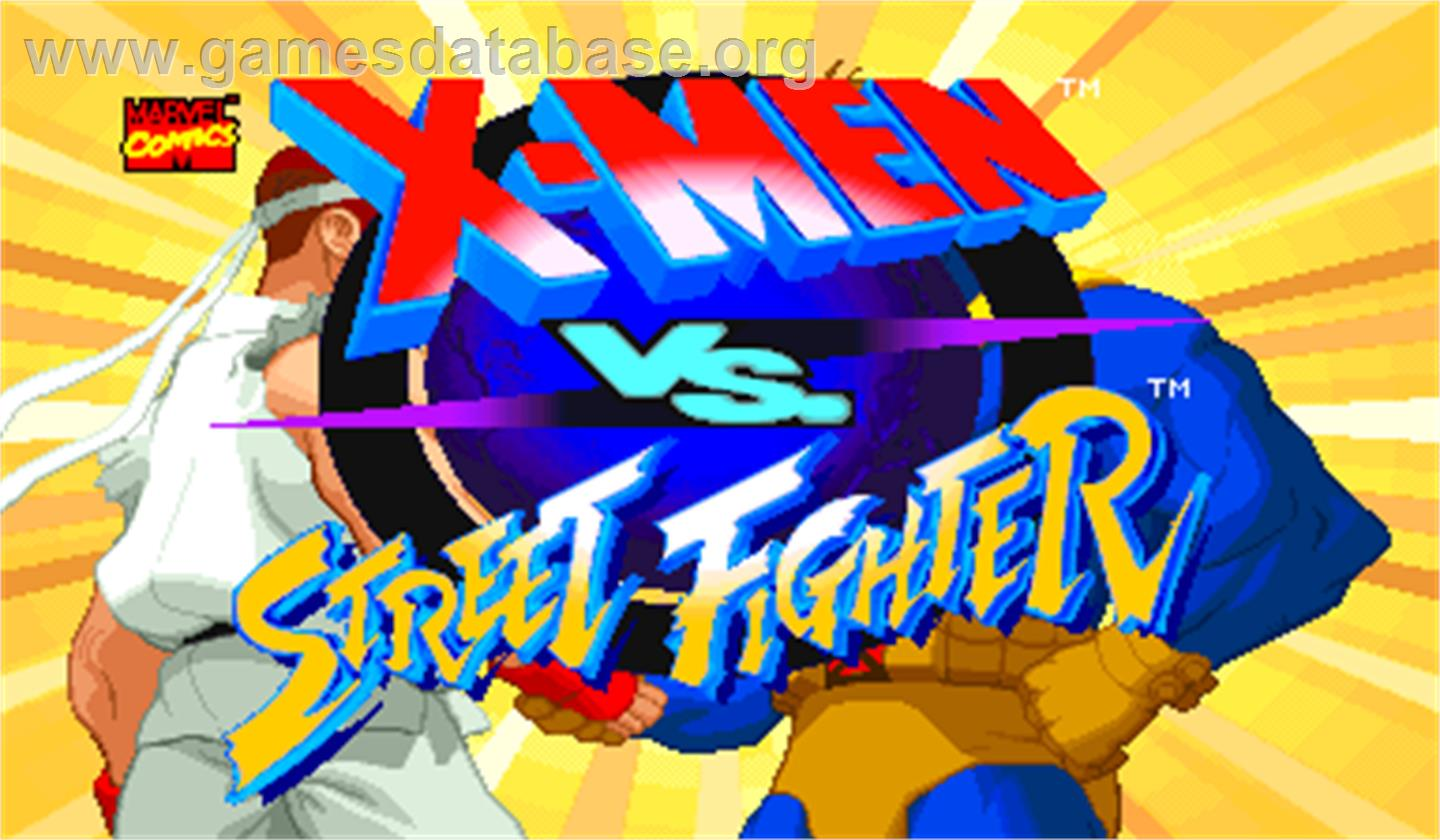 X-Men Vs. Street Fighter - Arcade - Artwork - Title Screen