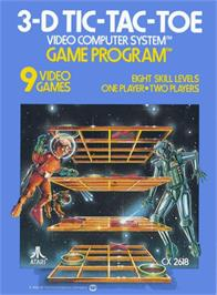 Box cover for 3-D Tic-Tac-Toe on the Atari 2600.