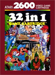 Box cover for 32 in 1 Game Cartridge on the Atari 2600.