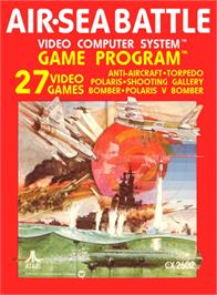 Box cover for Air-Sea Battle on the Atari 2600.