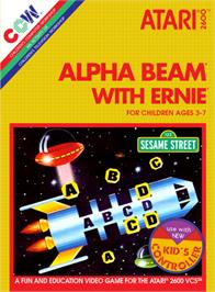 Box cover for Alpha Beam with Ernie on the Atari 2600.