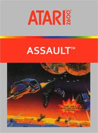 Box cover for Assault on the Atari 2600.