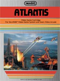 Box cover for Atlantis on the Atari 2600.
