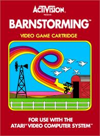 Box cover for Barnstorming on the Atari 2600.