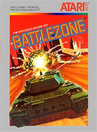 Box cover for Battlezone on the Atari 2600.