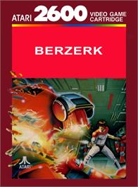 Box cover for Berzerk on the Atari 2600.