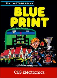 Box cover for Blue Print on the Atari 2600.
