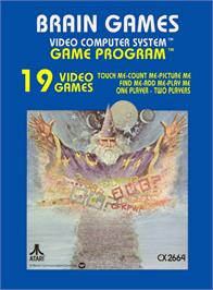 Box cover for Brain Games on the Atari 2600.