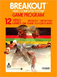 Box cover for Breakout on the Atari 2600.