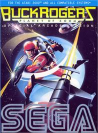 Box cover for Buck Rogers: Planet of Zoom on the Atari 2600.
