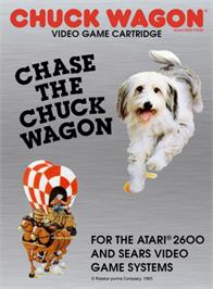 Box cover for Chase the Chuck Wagon on the Atari 2600.