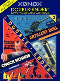 Box cover for Chuck Norris Superkicks on the Atari 2600.