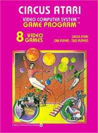 Box cover for Circus Atari on the Atari 2600.