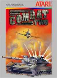 Box cover for Combat Two on the Atari 2600.