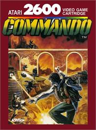 Box cover for Commando on the Atari 2600.