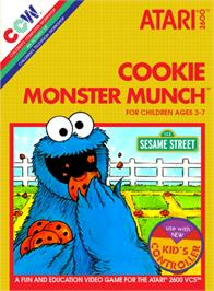 Box cover for Cookie Monster Munch on the Atari 2600.