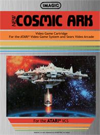 Box cover for Cosmic Ark on the Atari 2600.