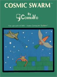 Box cover for Cosmic Swarm on the Atari 2600.